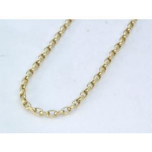 ネックレス 本物18金 シンプル 角アズキデ ザイン ネックレス 50cm(新品) K18 kobe-asahiya