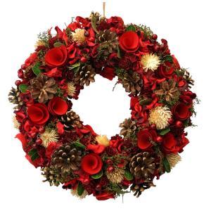 クリスマスリースレッドLサイズ