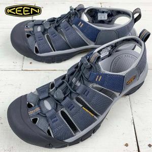 キーン メンズ アウトドアサンダル 【KEEN】 NEWPORT H2 STEEL GREY/PALOMA ニューポートエイチツー ウォータープルーフ|kobe-foot