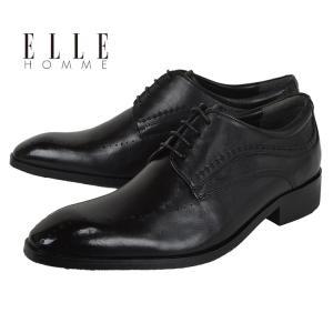 ビジネスシューズ プレーントゥ ブラック [EH6003] エルオム(ELLE HOMME) マドラス|kobe-foot