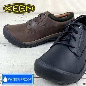 メンズ KEEN キーン ASUTIN CASUAL WP タウンユースなアウトドアシューズ 靴 KEEN 防水 2色 街中でも履ける嬉しいデザインのアウトドアシューズ|kobe-foot