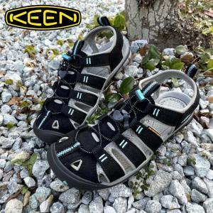 レディース KEEN キーン CLEARWATER CNX クリアウォーターシーエヌエックス アウトドア サンダル BLACK/RADIANCE|kobe-foot