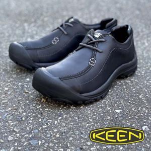 メンズ KEEN キーン PORTSMOUTH 2 ポーツマス2 本革 撥水オイルドヌバックレザー チロリアンシューズ 履きやすい BLACK 黒 1013961|kobe-foot