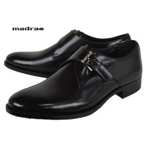 マドラスmadras[MA184]Blackマドラス モンクストラップ ビジネスシューズ|kobe-foot