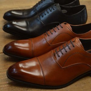 ビジネスシューズ ヴィアカミーノ マドラス メンズ via cammino madras VC1505 BLACK/LIGHR BROWN 黒 茶 革靴 結婚式 冠婚葬祭 就活 レースアップ 3E EEE|kobe-foot
