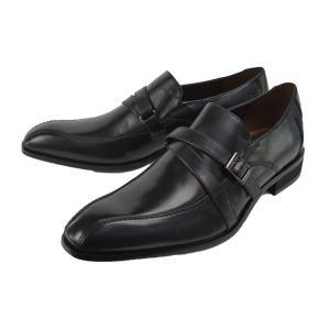 ビジネスシューズ モンクストラップ ブラック ヴィアカミーノ(via cammino) マドラス|kobe-foot