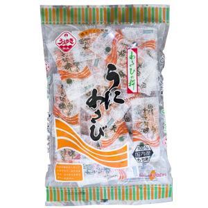 植垣米菓 うにあられ うに味のあられにわさび風味がピリリ うにわさび|kobe-mikashie