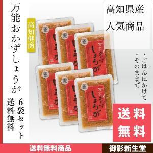 万能おかずしょうが 送料無料 メール便 高知県産 刻み生姜の醤油漬け 130g×6袋入り 四国健商 kobe-mikashie