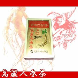 韓国伝統茶!健康維持に毎日1杯!!高麗人参茶(木箱)(3g×50包)|kobe-o-ton
