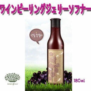 送料無料!!innisfree(イニスフリー)! 日本でお馴染み!少女時代ユナの広告!人気のワインシリーズ!ワインピーリングジェリーソフナー(180ml)|kobe-o-ton