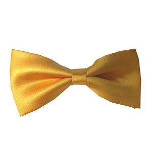 【大人用 蝶ネクタイ】1-2 クオリティーはお値段以上!簡単装着 手軽に簡単  イエロー 黄色 無地 【送料無料】|kobe-o-ton