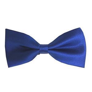 【大人用 蝶ネクタイ】1-3 クオリティーはお値段以上!簡単装着 手軽に簡単  ブルー 青 無地 【返品・交換不可】【送料無料】|kobe-o-ton