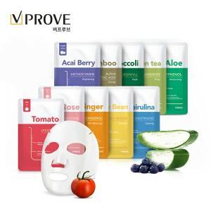 ビプルーブ(VPROVE)ファイトセラピーマスクシート[1枚20g/全10種]10枚セット ゆうパケット便送料無料 韓国コスメ パック パクポゴムイメージモデル|kobe-o-ton