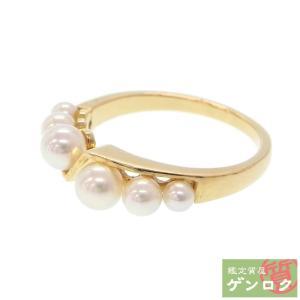 【中古】 ミキモト K18ゴールド / パール リング・指輪 真珠 MIKIMOTO【質屋】【代引き手数料無料】|kobe78genroku