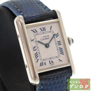 【中古】 カルティエ マストタンク レディース 腕時計 1614 回路交換済 CARTIER【質屋】【代引き手数料無料】 kobe78genroku