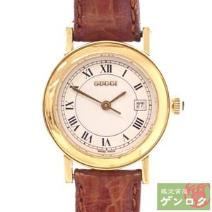 【中古】 グッチ 腕時計 7200L ブラウン×ゴールド色 レザー×GP 腕時計 GUCCI【質屋】【代引き手数料無料】|kobe78genroku