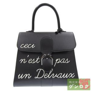【中古】Delvaux デルヴォー ブリリアントMM 2WAYハンドバッグ ショルダーバッグ ブラック レザー レディース【質屋】【代引き手数料無料】|kobe78genroku