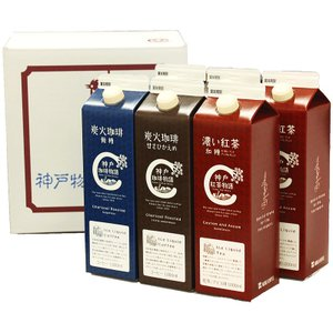 神戸珈琲物語 アイスリキッドギフトセット 6本詰合せ KCL-6 ギフト包装可 40006|kobecoffee