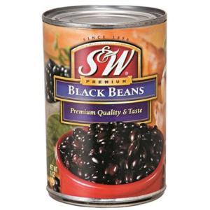S&W ブラックビーンズ  425g