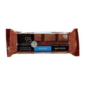 クーベルチュール ミルクチョコレート (カカオ34%) 200g kobegrocers