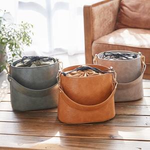 バッグ バケツバッグ レディース 鞄 2way ワンハンドル リザード シンプル B1341|kobelettuce