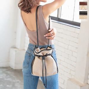 バッグ ショルダーバッグ 巾着レディース パターン 柄 鞄 カバン きれいめ B1371|kobelettuce