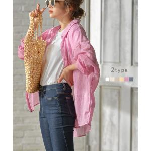 シアーガーゼリラックスシャツ  ふんわりとした素材感とシアーな透け感が魅力のガーゼシャツ。 ベーシッ...