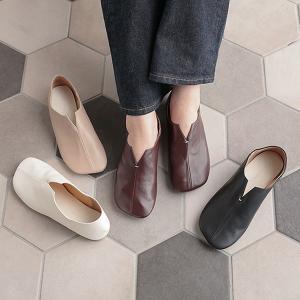 セール バブーシュ 2WAY ぺたんこ フラット レザー フェイクレザー 靴 シューズ 歩きやすい ローヒール レディースI2040|神戸レタスKOBELETTUCE