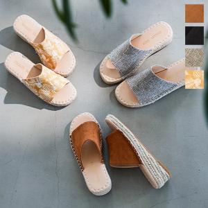 サンダル レディース シューズ ウェッジソール 歩きやすい ワンベルト ジュート 靴 I2120|kobelettuce