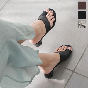 サンダル レディース シューズ トングサンダル 靴 チャンキーヒール 夏 サムループ I2142|kobelettuce