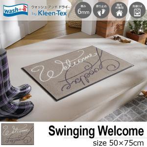 玄関マット 屋外 室内 洗える 滑り止め wash+dry Swinging Welcome 50×75cm|kobelongtail