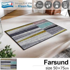 玄関マット 屋外 室内 洗える 滑り止め wash+dry Farsund 50×75cm|kobelongtail