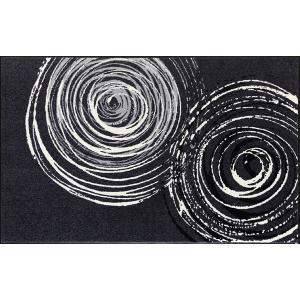 ラグ ラグマット 長方形 洗える おしゃれ wash+dry Swirl 110×175 cm|kobelongtail|02