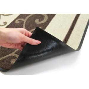 ラグ ラグマット 長方形 洗える おしゃれ wash+dry Swirl 110×175 cm|kobelongtail|05