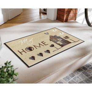 玄関マット 屋外 室内 洗える 滑り止め wash+dry My Home 50×75cm|kobelongtail|03