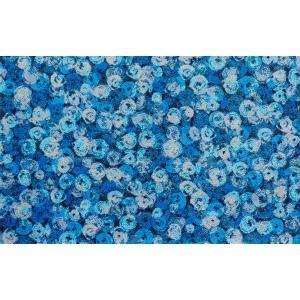 ラグ ラグマット 長方形 洗える おしゃれ wash+dry Punilla  blue 110×175 cm|kobelongtail|02