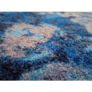 ラグ ラグマット 長方形 洗える おしゃれ wash+dry Punilla  blue 110×175 cm|kobelongtail|03
