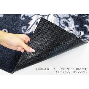 ラグ ラグマット 長方形 洗える おしゃれ wash+dry Punilla  blue 110×175 cm|kobelongtail|04