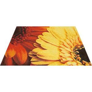 玄関マット エントランスマット Office&Decor 屋内 室内 洗える 自然 美しい空間 花 ガーベラ kobelongtail