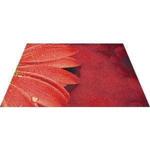 玄関マット エントランスマット Office&Decor 屋内 室内 洗える 自然 美しい空間 レッドフローラル 花 kobelongtail
