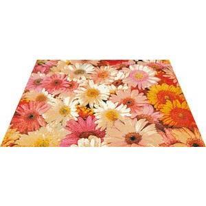 玄関マット エントランスマット Office&Decor 屋内 室内 洗える 自然 美しい空間 花 フラワーガーデン kobelongtail