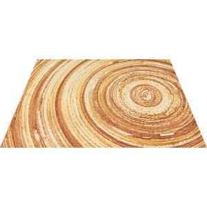 玄関マット エントランスマット Office&Decor 屋内 室内 洗える 自然 美しい空間 木 アニュアルリング kobelongtail
