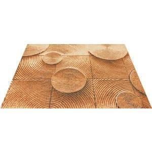 玄関マット エントランスマット Office&Decor 屋内 室内 洗える 自然 美しい空間 木 ウッドチェアー kobelongtail