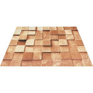玄関マット エントランスマット Office&Decor 屋内 室内 洗える 自然 美しい空間 木 ブロック kobelongtail