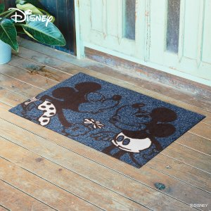 玄関マット Disney ディズニー Mickey/ミッキー&ミニー 60×90cm|kobelongtail