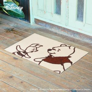 玄関マット Disney ディズニー pooh/プーさん&ピグレット 50×75cm|kobelongtail