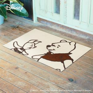 玄関マット Disney ディズニーpooh/プーさん&ピグレット 60×90cm|kobelongtail