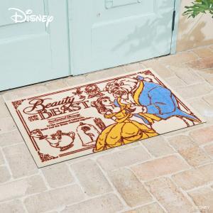 玄関マット Disney ディズニー美女と野獣 60×90cm|kobelongtail