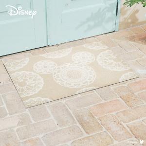 玄関マット Disney ディズニーMickey/ミッキー レース ベージュ 60×90cm|kobelongtail