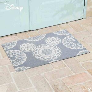 玄関マット Disney ディズニーMickey/ミッキー レース グレー 50×75cm|kobelongtail